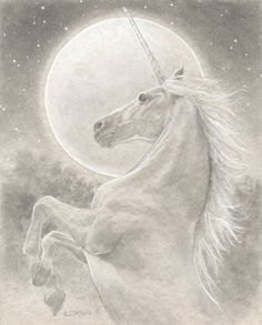 "The Unicorn 8.5x11 Signed Print Illustration..."" SHE IS READY AND EAGER TO BEGIN AGAIN """