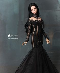 Bad to the Bone Anime Dolls, Bjd Dolls, Barbie Mode, Barbie Gowns, Gothic Dolls, Russian Fashion, Barbie World, Cosplay Outfits, Ball Jointed Dolls