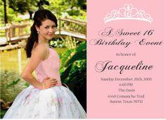 Sweet 16 or quinceanera invitation via Etsy