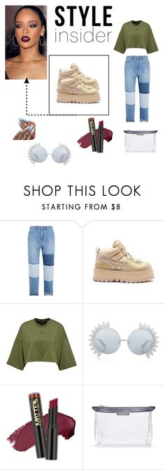 """When Lola loves Puma by Rihanna"" by thegoldendiri ❤ liked on Polyvore featuring Steve J & Yoni P, Linda Farrow, L.A. Girl and Acne Studios"