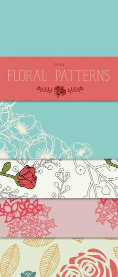 Free Floral Patterns - Designs By Miss Mandee. Lovely designs. Perfect for scrapbooking, printables, and wrapping small gifts! #scrapbookprintables