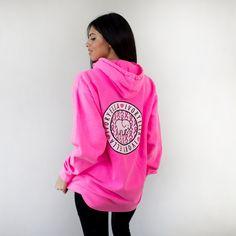 303da6d452fa0 Oversized Neon Pink Ribbon Hoodie. Ivory Ella SweatshirtPink LoveBreast  Cancer ...