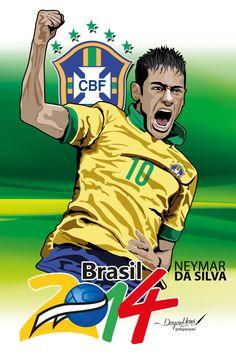 Estrella del fútbol Brasilero