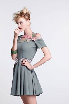 Stripes strap dress, nice but would be better with a different colour theme.