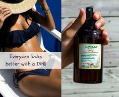 A natural tan can make as looks toned, younger and thinner!