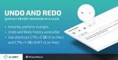 Undo and Redo for Visual Composer . Undo and Redo for Visual Composer gives you the number one missing feature in Visual Composer: having the ability to undo and redo your changes. Now you will be able to easily revert back a mistake you did. You can undo/redo every change you perform in Visual Composer, such as moving elements,