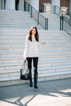 The Miller Affect in a Two by Vince swing striped top