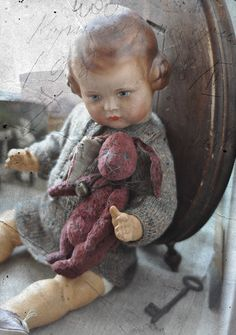 Rabbit YoYo★ Old toys ★ Doll ★ Antique Style ★ TEDDY BEARS ★ by Julia Valeeva