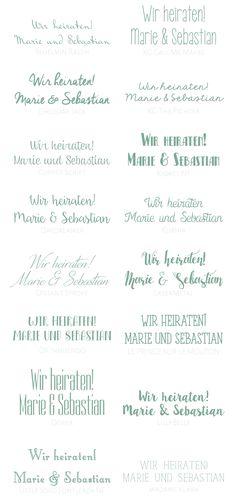 Ihr wollt eure Hochzeitspapeterie selber gestalten und drucken? Heute habe ich euch die 50 schönsten Schriftarten gesammelt. Einfach den Li...
