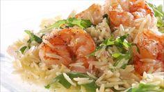 Giada De Laurentiis - Lemony Shrimp Scampi with Orzo and Arugula