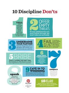 "10 Discipline Don'ts chart - good advice but could you give ""10 Discipline Do's""?"