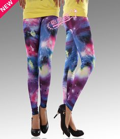 Women Galaxy leggings Multi color printing cheap Leggings  $9.58