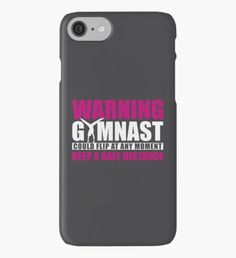 Warning! Gymnast could flip at any moment... iPhone Case/Skin