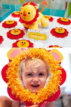 http://blog.hwtm.com/2015/02/circus-first-birthday-party-ideas-lion-elephant-zebra/