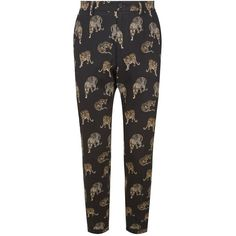 Dolce & Gabbana Leopard Motif Trousers ($860) ❤ liked on Polyvore featuring men's fashion, men's clothing, men's pants, men's casual pants, mens leopard print pants, mens summer pants, dolce gabbana mens pants and mens leopard pants