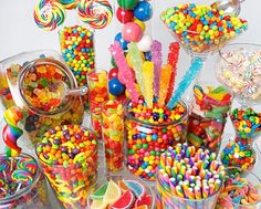 rainbow candy display - Google Search