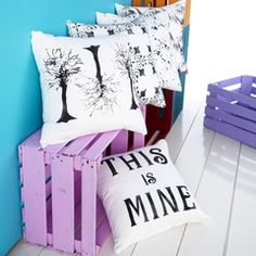 Boxes in colors for the kids rooms