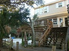 Folly Beach Vacation Rental - VRBO 424504 - 3 BR Charleston Area House in SC, Across the Street from the Beach ~ the Tree House yes