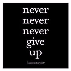 """""""Never never never give up"""" Winston Churchill Extra postage required. Measures 5"""" x 5"""". All quotable cards and envelopes are printed on 100% post consumer recycled paper. Color may vary"""