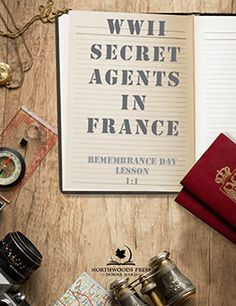 WWII Secret Agents in France - Remembrance Day Lesson - Northwoods Press Best Trade, Canadian History, Remembrance Day, France, Learning Centers, Wwii, Letter Board, The Secret, Digital