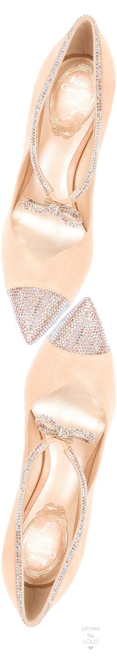 RENÉ CAOVILLA Embellished Bow Pumps | LOLO❤︎ I love it¡¡¡ http://bellanblue.com