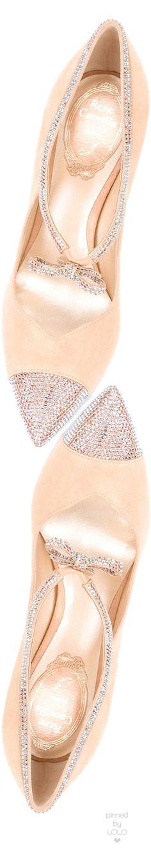 RENÉ CAOVILLA Embellished Bow Pumps   LOLO❤︎ I love it¡¡¡ http://bellanblue.com