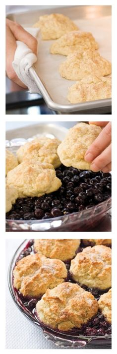 How To Make Perfect Blueberry Cobbler... With biscuits, of course!