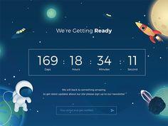 by Septiandika Pratama Countdown Clock, Countdown Timer, Website Design Inspiration, Daily Inspiration, Website Layout, Web Layout, Bauhaus, Front Page Design, App Ui Design