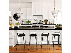Farmhouse Renovation Kitchen from Southern Living White Kitchen Decor, White Kitchen Cabinets, Ikea Cabinets, Shaker Cabinets, Kitchen Walls, Kitchen Doors, Kitchen Islands, Kitchen Sink, Farmhouse Style Kitchen