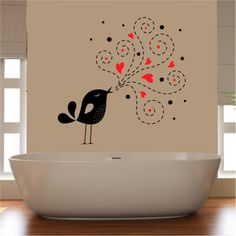 Singing Bird Wall Sicker - very suitable for the bath lover on Twitter.