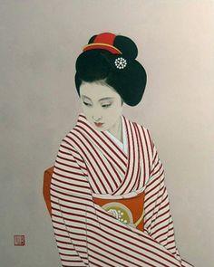 taishou-kun:  Shimura Tatsumi 志村立美 (1907-1980) Maiko 舞子 - 1977