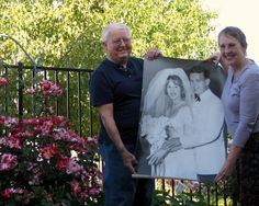 Annual Anniversary Photo with Wedding Picture