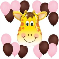 Girl Jolly Giraffe - Balloon Kit for Baby Showers