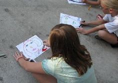 Art Party activities: Blind Van Gogh, Left Foot Art, Pass the Picture