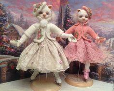 Кошечки моей любимой кукольниных дел Мастера - Галины Старостиной  http://www.livemaster.ru/item/12447973-kukly-igrushki-kto-so-mnoyu-na-katok-koshka-na