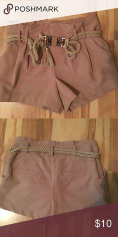 High waist Shorts High waist safari style shorts with rope detail belt Shorts