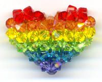 RAINBOW (all inclusive colours) Beaded heart Taste The Rainbow, Rainbow Heart, Over The Rainbow, Rainbow Things, World Of Color, Color Of Life, For Elise, Rainbow Connection, Rainbows