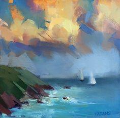 Two Sails by Trisha Adams Oil ~ 10 x 10