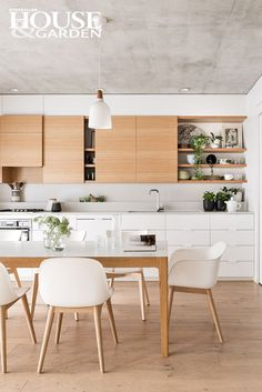 Home Decor Tips This efficient inline kitchen is designed so that food can move swiftly and easily from storage to prep zone to table. Created by Perth Architect Felix Oefelein.