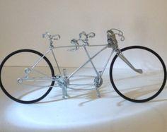 Miniature Wire Tricycle Rustic Wonky Unique Simple Desk Accessory Mini Bicycle Gift For Coworkers Bike