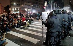BRAZIL - SAO PAULO protest against the government for the increase in bus fares.!