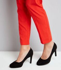 Black Comfort Suedette Platform Court Shoes | New Look