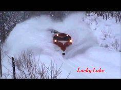 NEW 2013 Awesome Powerful Train plow through snow railway tracks Watch f...