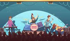 Open Air Festival Rock Band