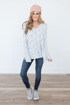Shop our Soft Brushed Marbled Top in White/Black. Pair with skinny jeans and booties for a chic and casual look. Always free shipping on all US orders.