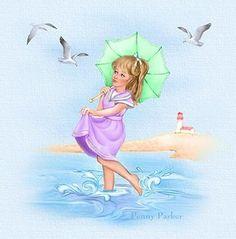 Penny Parker ✿⊹  enjoying the ocean