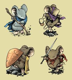 The Second Edition of the Mouse Guard Role Playing Game will have new cards. In the original release, the cards were only a part of the box. Character Creation, Character Concept, Character Art, Concept Art, Mouse Guard Rpg, Illustrations, Illustration Art, Armadura Medieval, Fantasy Rpg