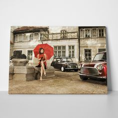 Canvas print WOMAN CARS by Sticky!!!