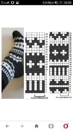 Fair Isle Knitting Patterns, Knitting Charts, Lace Knitting, Knitting Stitches, Knitting Socks, Knitting Machine, Vintage Knitting, Punto Fair Isle, Motif Fair Isle