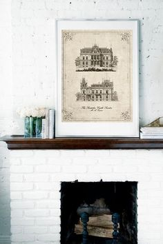 The Stordalen Castle Vintage neo retro por SoulArtCorner en Etsy